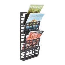 Grid 5 Pocket Magazine Rack