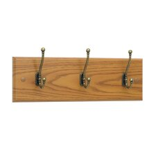 3 Hook Wood Coat Rack (Set of 6)