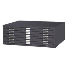 Ten-Drawer Flat File Filing Cabinet