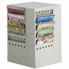 20 Pocket Steel Rotary Magazine Rack
