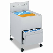 Safco® Locking Mobile Tub File with Drawer Mobile File