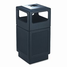Canmeleon 38-Gal Ash/Trash Square Receptacle