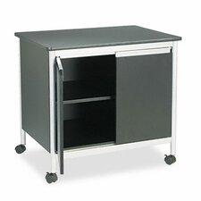 Safco Deluxe Steel Machine Stand 2 Door Storage Cabinet