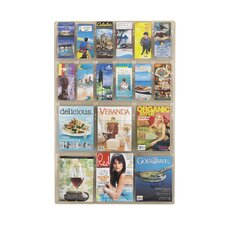 Reveal Clear Literature Displays, 18 Compartments