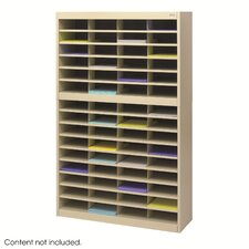 Steel Literature Organizer with 60 Letter-Size Compartments