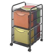 Onyx Mesh Mobile Double File Cart