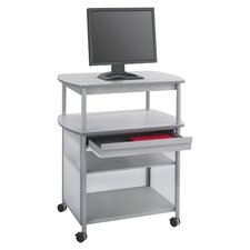 Impromptu AV Cart with Storage Drawer and 3-Shelf
