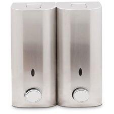 Double Stainless Steel Shower Dispenser