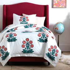 Daisy Block Print Duvet Cover Set