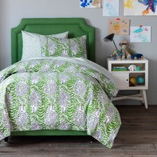 Tiger Block Print Duvet Cover Set