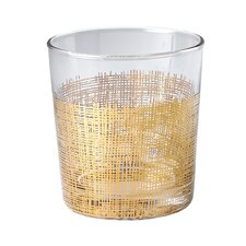 Crosshatch Old Fashioned Glass