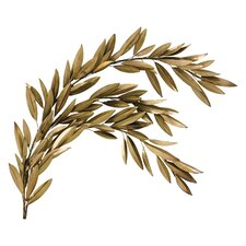 Brass Olive Branch Right Wall Décor
