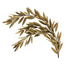 Brass Olive Branch Left Wall Décor