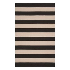 Draper Stripe Hand Woven Ink Outdoor Rug