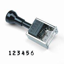 Reiner Multiple Movement Numbering Machine, Pre-Inked/Re-Inkable, Black