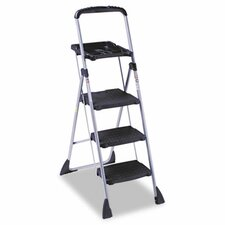 Max Work 5 ft Steel Platform Step Ladder with 225 lb. Load Capacity