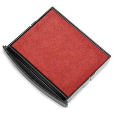 """Replacement Pad,for Self-inking Stamps/Daters, 1-3/4""""x1-7/8"""", Red"""