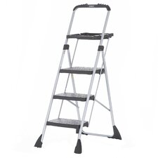 4 ft Steel Work Step Ladder with 225 lb. Load Capacity