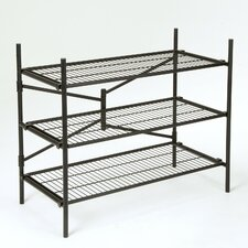 "Folding Instant Storage 35.73"" H 3 Shelf Shelving Unit"