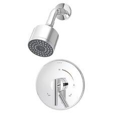 Dia Shower Pressure Balance Shower Faucet Trim with Lever Handle