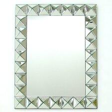 "28"" H x 35"" W Beveled 3D Square Mirror"