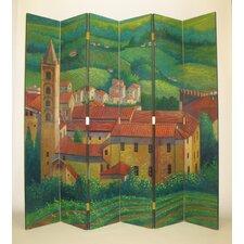 "84"" x 96"" Tuscan Village 6 Panel Room Divider"