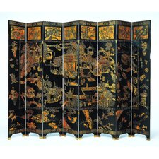 Eight Panel Chinese Village Room Divider