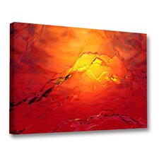 'Red Hot Ice' by Scott J. Menaul Graphic Art on Wrapped Canvas