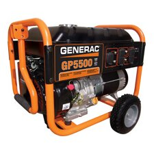 Portable 5,500 Watt Gasoline Generator with Wheel Kit