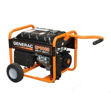 Portable 6,500 Watt Gasoline Generator with Wheel Kit