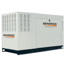 48 Kw Liquid-Cooled Single Phase 120/240 V Standby Generator with Catalytic Converter and CSA, EPA Compliance in Aluminum