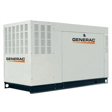 60 Kw Liquid-Cooled Single Phase 120/240 V Natural Gas Standby Generator with CSA, and EPA Compliance in Aluminum