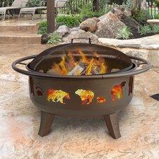 Patio Lights Firedance Bear & Paw Wood Burning Fire Pit