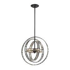 Crystal Orbs 3 Light Globe Pendant