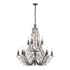 Sagemore 12 Light Crystal Chandelier