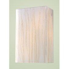 Modern Organics 2 Light Wall Sconce with Sawgrass Shade