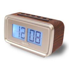 "AM/FM Dual Alarm Clock with Digital Retro ""Flip"" Display"