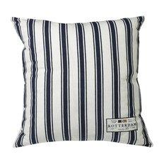 Urban Loft Nautical Just Stripe Feather Filled Throw Pillow