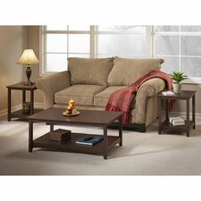 Buena Vista 3 Piece Coffee Table Set with End Tables