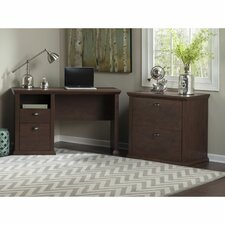 Yorktown Single Pedestal Desk and Lateral File
