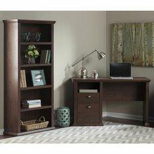 Yorktown Single Pedestal Desk & Bookcase