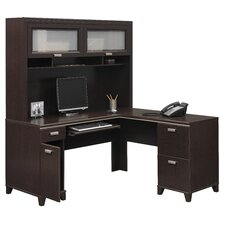 Tuxedo L-Shape Desk with Hutch