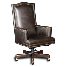 Woodward High Back Chanel Leather Home Executive Chair