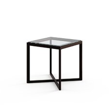 "Marc Krusin 18"" End Table in Ebonized Oak"