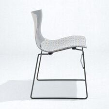 Handkerchief Non-Stacking Side Chair with Seat Pad