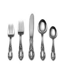 Sterling Silver King Richard 5 Piece Dinner Flatware Set with Old Style Knife