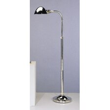 Alvin Pharmacy Floor Lamp in Polished Nickel