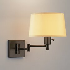 Real Simple Swing Arm Wall Lamp with Dark Bronze Powder Coat