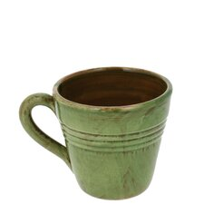 4-inch Cilantro Green Stoneware Coffee Mugs (Set of 4)