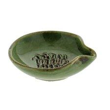 3.5-inch Cilantro Green Stoneware Garlic Grater